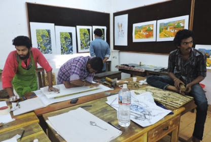 Ekam -  National Art Students Camp at Fine Arts College Thrissur , Kerala