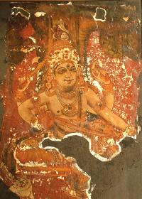 Lord Dakshinamoorthy- a recovered mural- private collection of K K Warrier