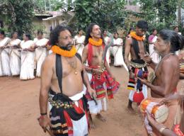 Oracles representing the deities with Udukku drummers