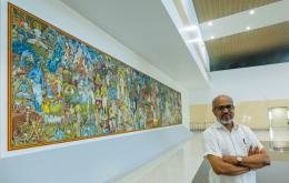 P K Sadanandan's Biennale Art finds home at Cochin International Airport