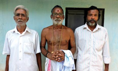 From L to R Pana artistes Raman Nair, Kuttan Nair and Gangadharan