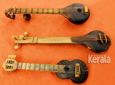 K Parameswarans creations_miniature musical instruments