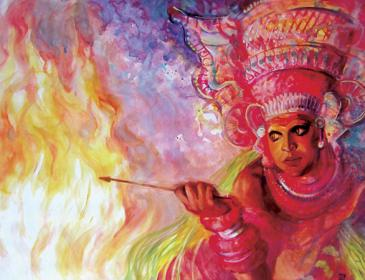 Theyyam Paintings by Ms. Madina Ziganshina
