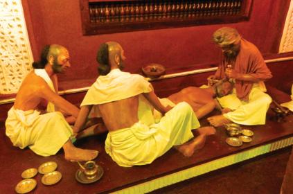 Ayurveda Surgery Method - Live Size Figures on Display