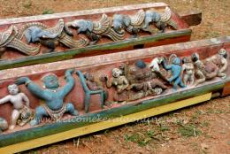 Bhoothamala-old carvings at Vatakara Lokanarkavu temple , Kerala